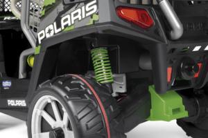 TopKidCar - Polaris Ranger RZR Green Shadow Elektroauto für Kinder im Alter von 6-10