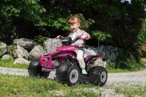 Topkidcar - Corral T-Rex Pink Elektroquad für Kinder im Alter von 3-6