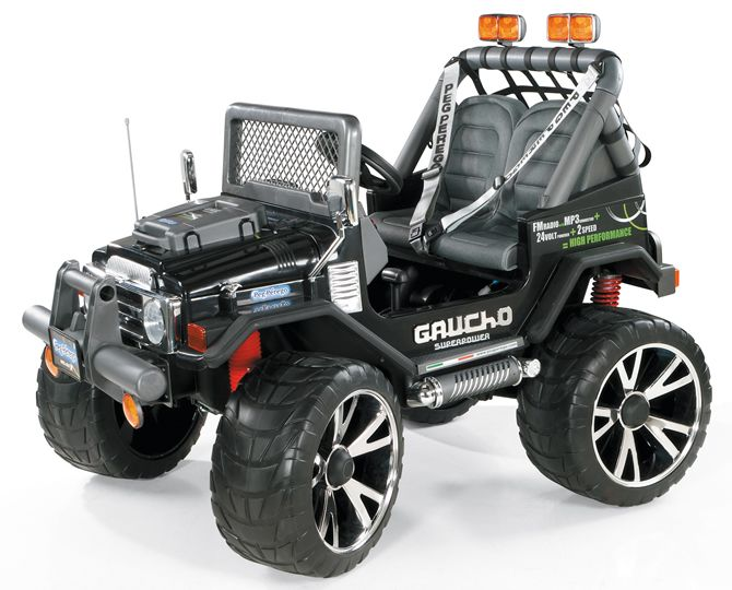 TopKidCar - Gaucho Superpower Elektroauto für Kinder im Alter von 6-10