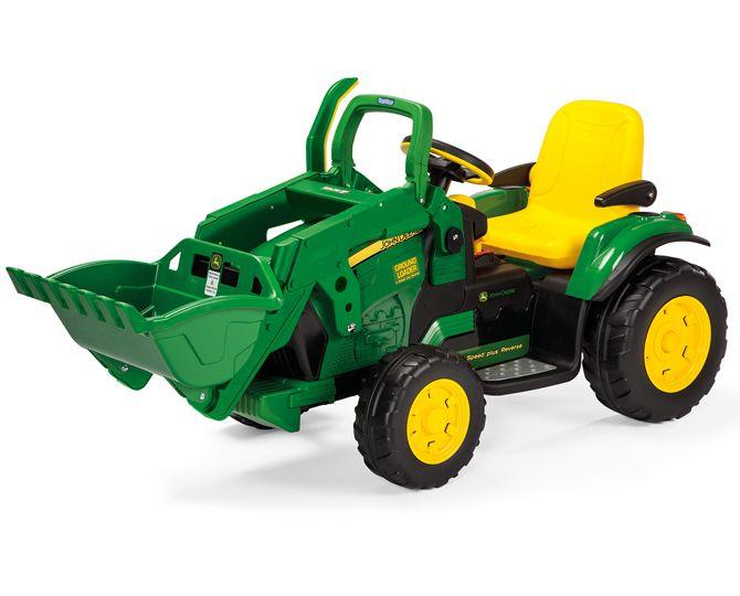 TopKidCar - John Deere Ground Loader Elektroauto für Kinder im Alter von 3-7