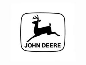 John Deere Black White Logo